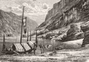 CHINA. River Upper Yangtze-Kiang c1885 old antique vintage print picture